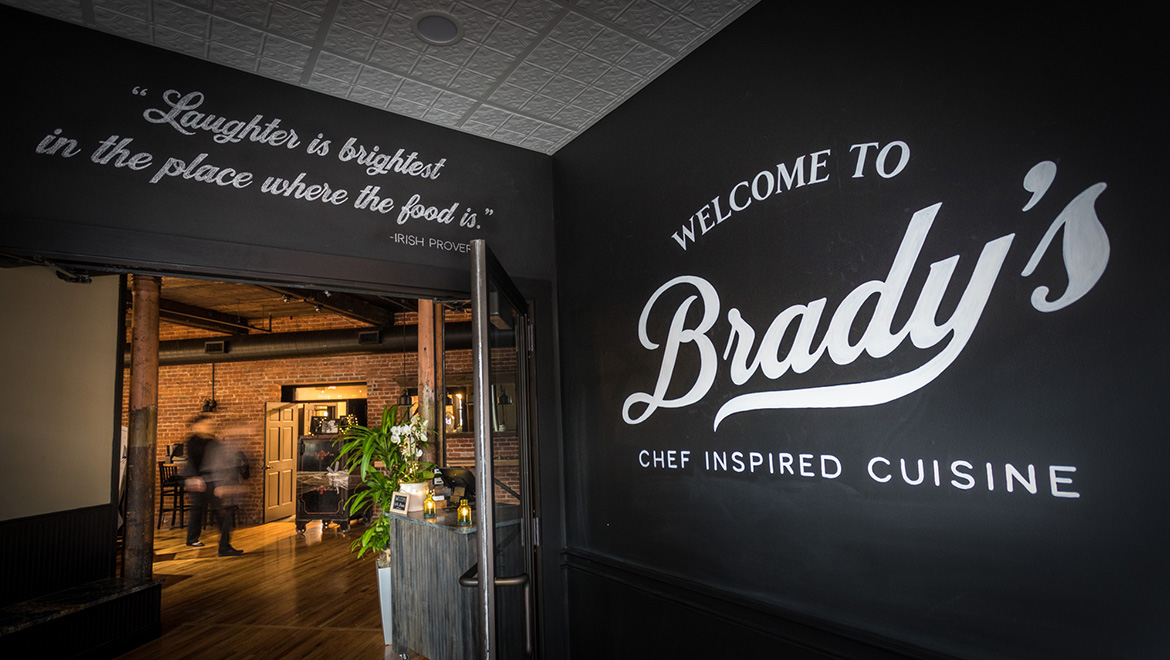Brady's Front Entrance Interio Welcome