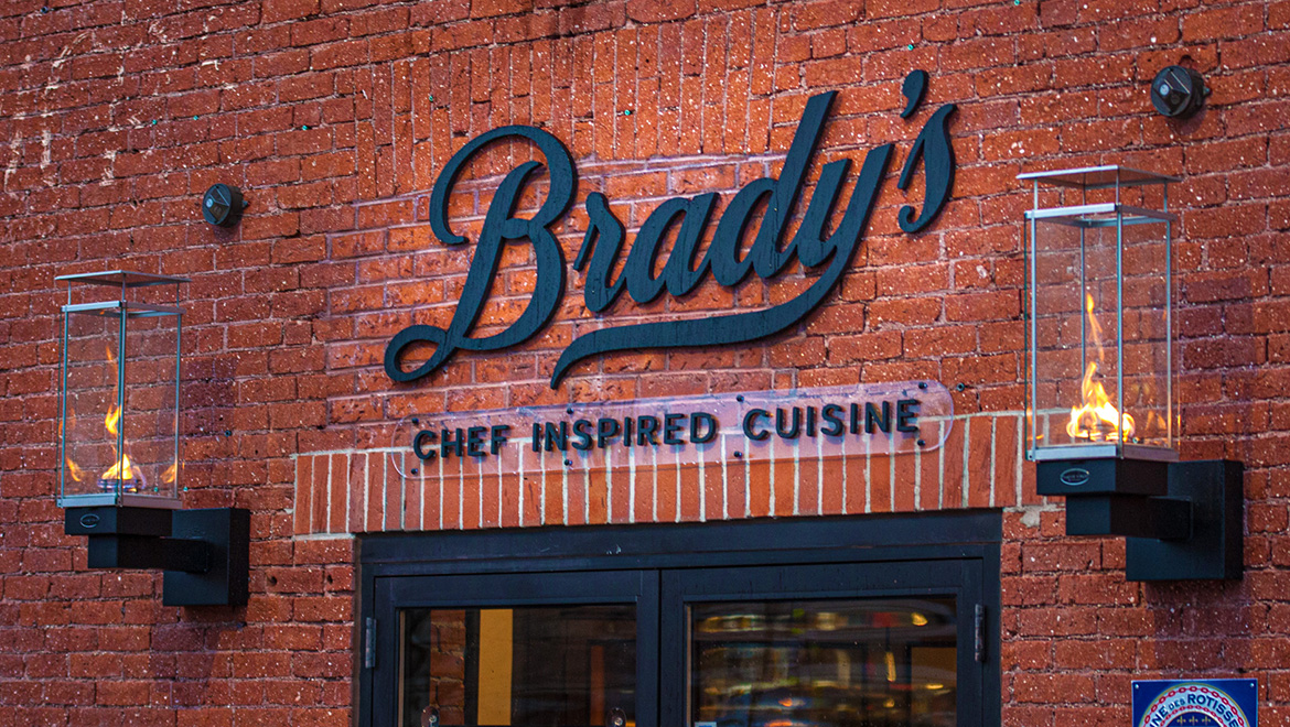 The Front of Brady's Restaurant